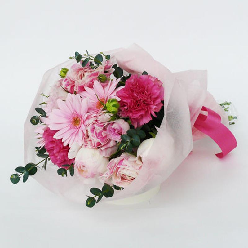 季節のお花のブーケ【pink】/生花