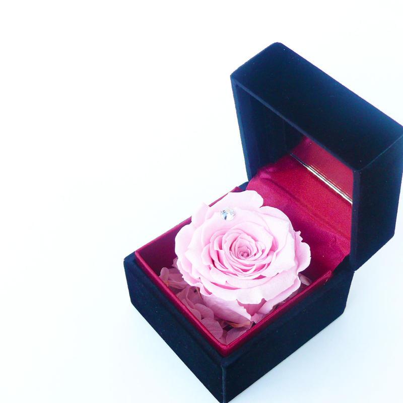 ダイヤモンドプリザーブドローズのジュエリーボックス【pink】