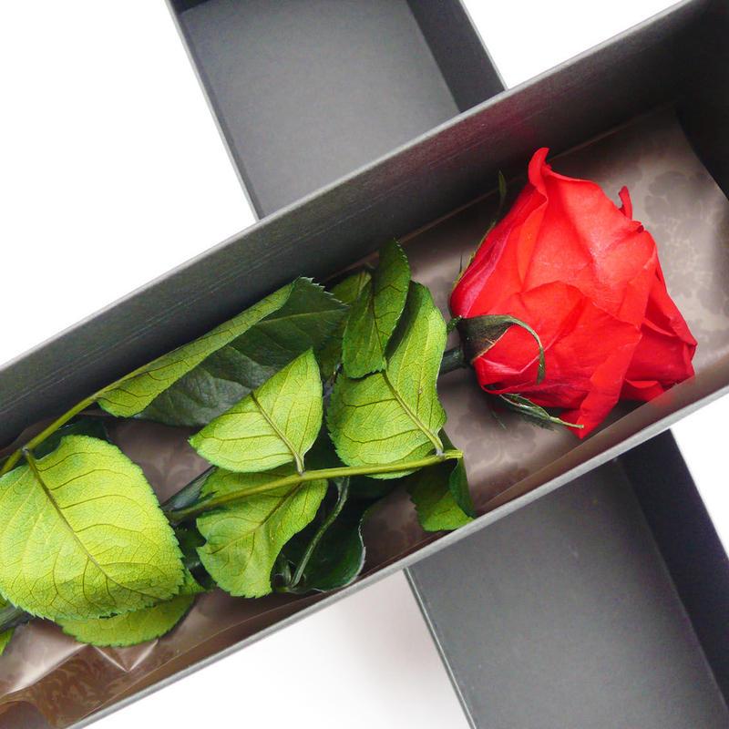 プリザーブドローズの一輪ボックス【Red】