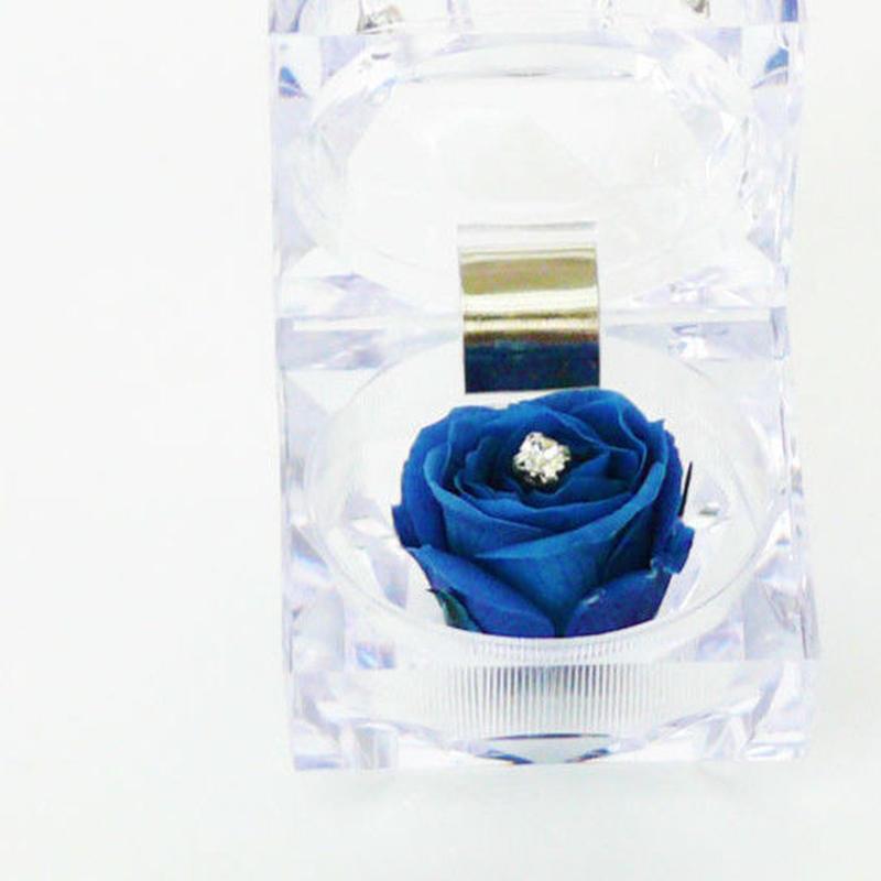 プリザーブドローズのジュエリーBOXアレンジメント【deep blue】