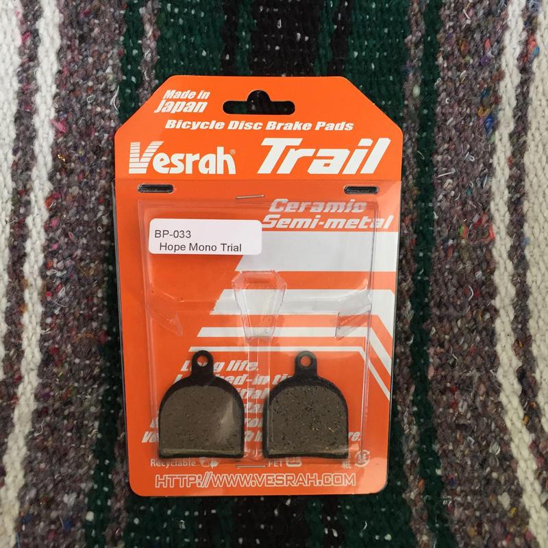 Vesrah  Trail HOPE MONO TRIAL用 ディスクパット