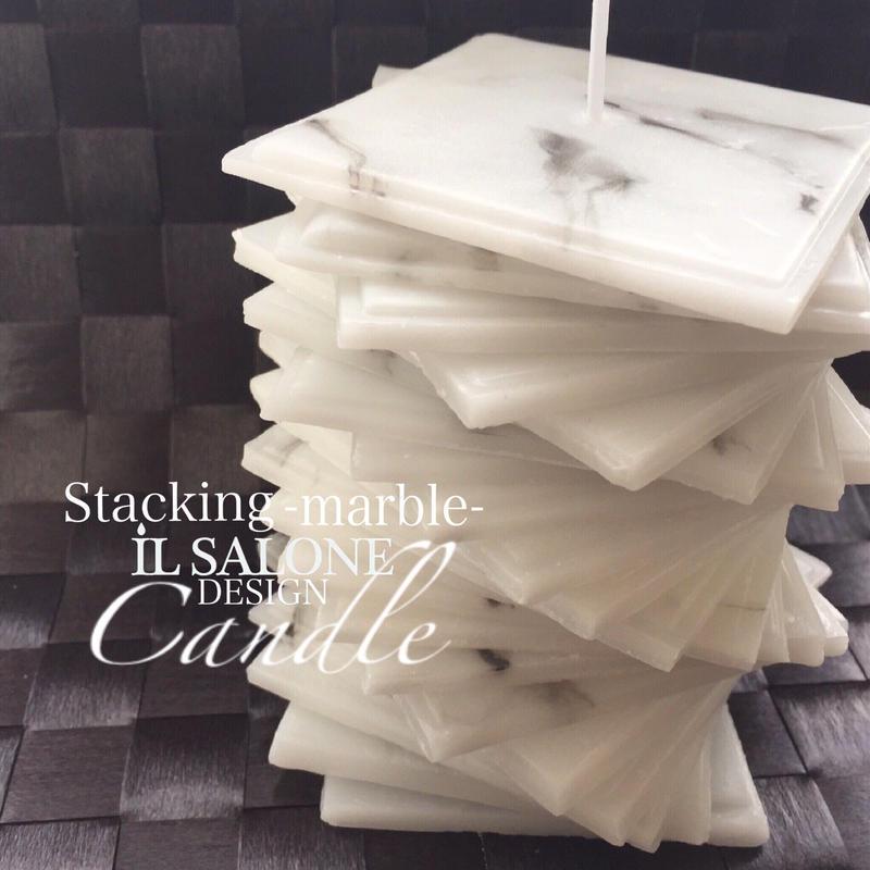 大理石スタッキングキャンドル一般レッスン&ホテルのデザートセットコラボレッスン