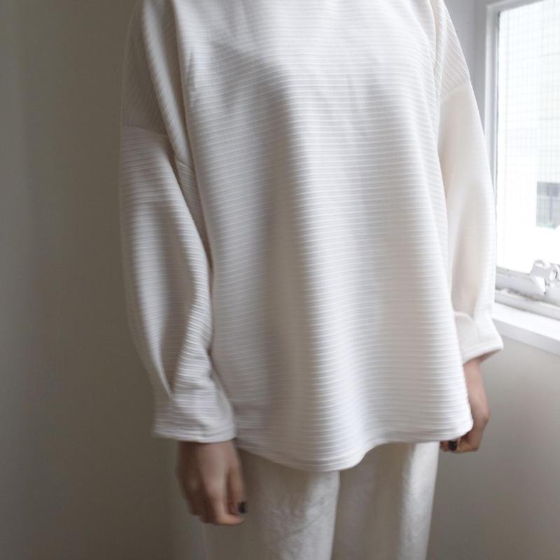 Dolman sleeve cut sew white