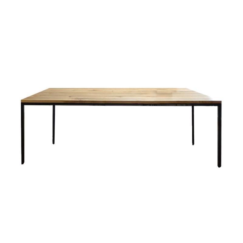 【受注生産品】オリジナルダイニングテーブル DTO/02S(天板:ナラ 脚:スチール4方脚)W1200