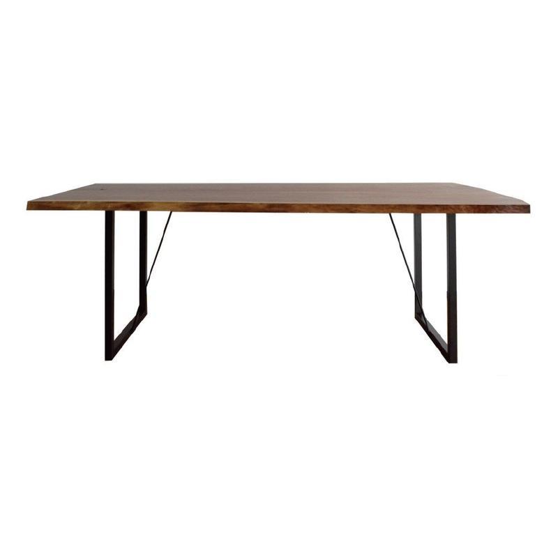 【受注生産品】オリジナルダイニングテーブル DTW/01S(天板:ウォールナット 脚:スチール脚)W1500