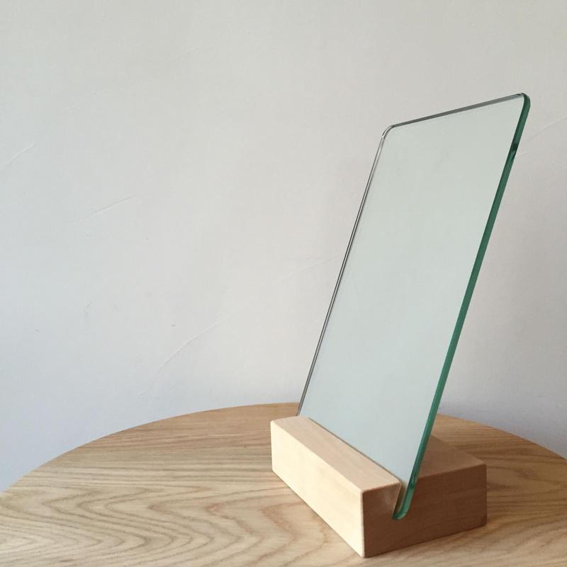 イルドーノオリジナル卓上鏡(アッシュ・ウォールナット・ナラ)