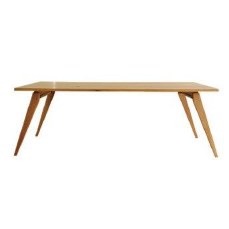 【受注生産品】オリジナルダイニングテーブルDTO/01W(天板:ナラ 脚:ナラ斜め脚)W1500