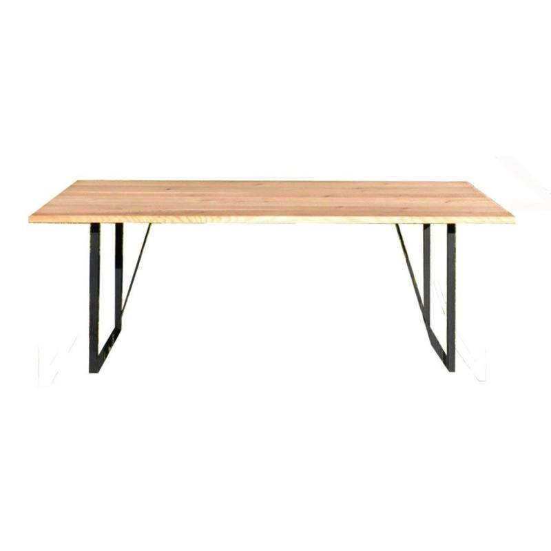 【受注生産品】オリジナルダイニングテーブル DTO/01S(天板:ナラ 脚:スチール脚)W1800