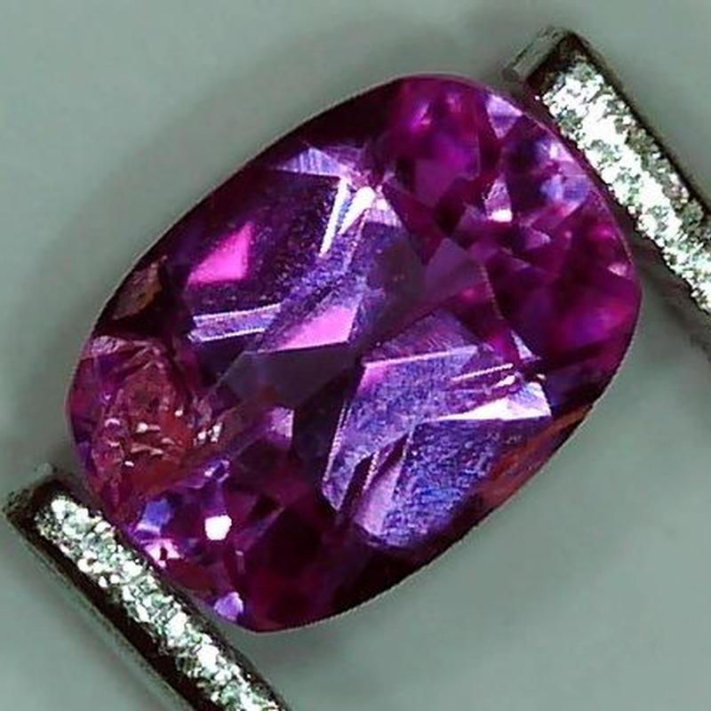 ピンクサファイア 0.814ct ◆非加熱証明書付◆ non heated Pink Sapphire