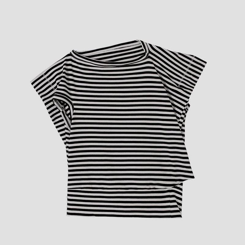 naname stripe T-shirt