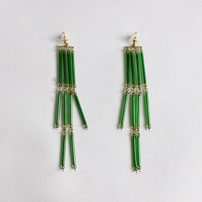 tassels earrings (hand-knit )