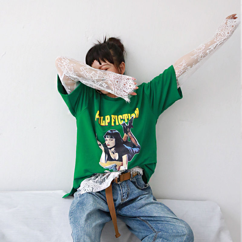 pulp flction with lace t-shirt (set)