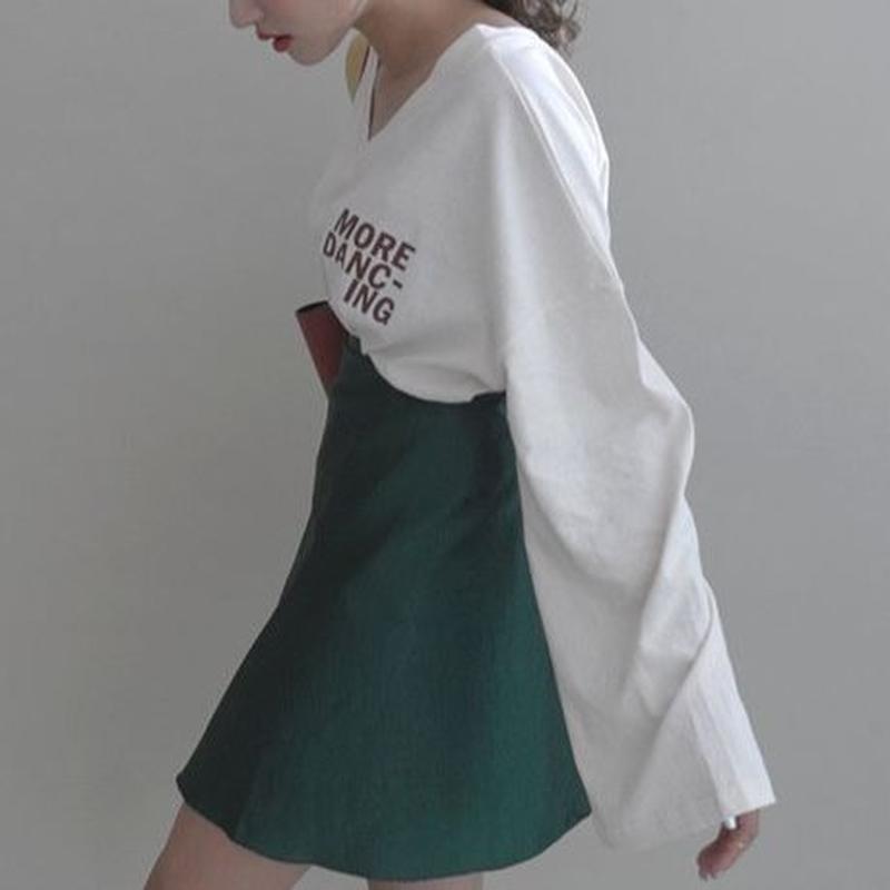 2colors-retro v-neck t-shirt