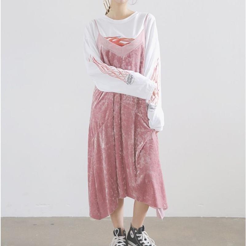 pink Velvet outside dress