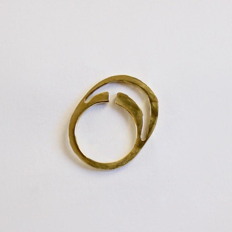 flat brass ring -1 (original jewelry)