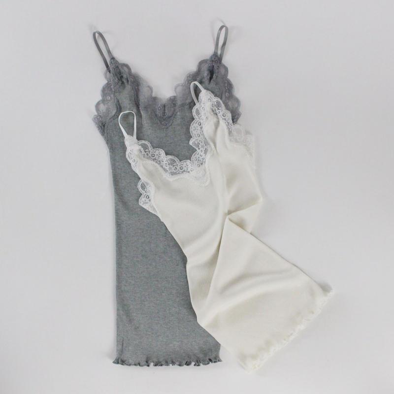 2colors - lace silken bustier