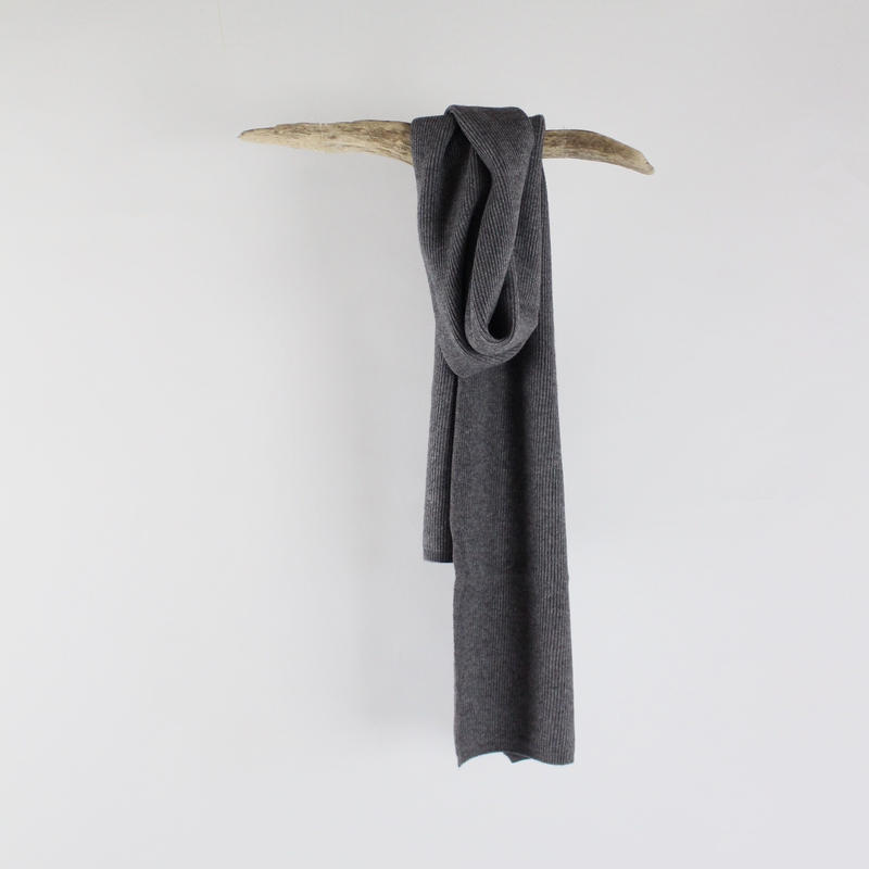 2colors-soft kiss skinny knit scarf