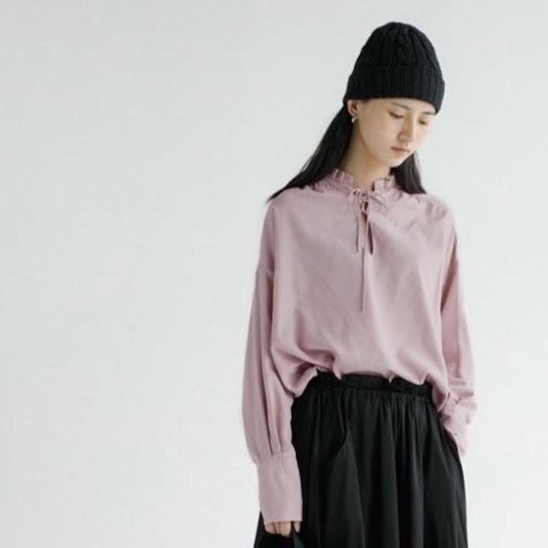 2color-droplet neck blouse shirt