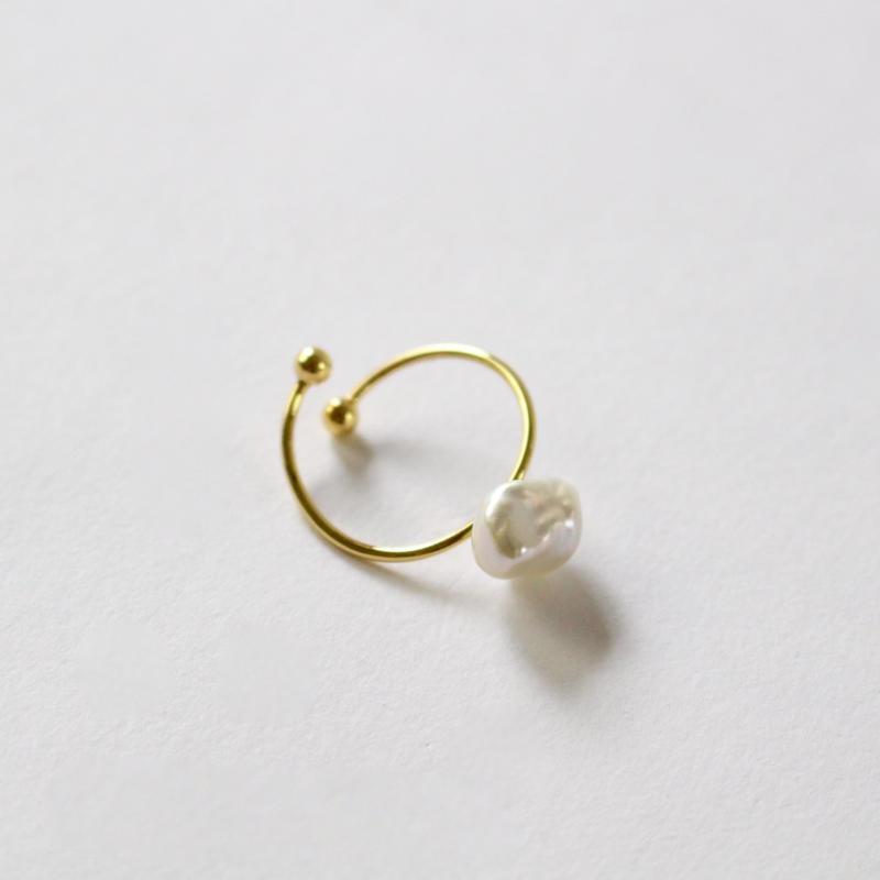 shapeless pearl ring