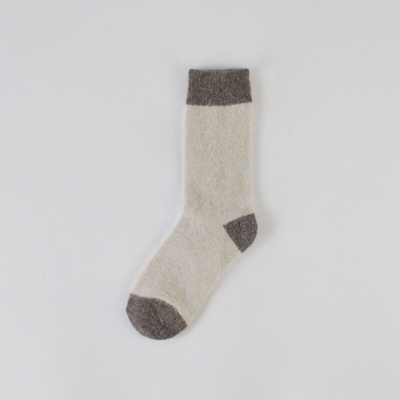 3colors-Angola rabbit fur socks