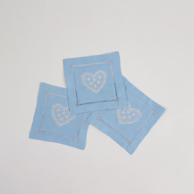 blue heart coaster