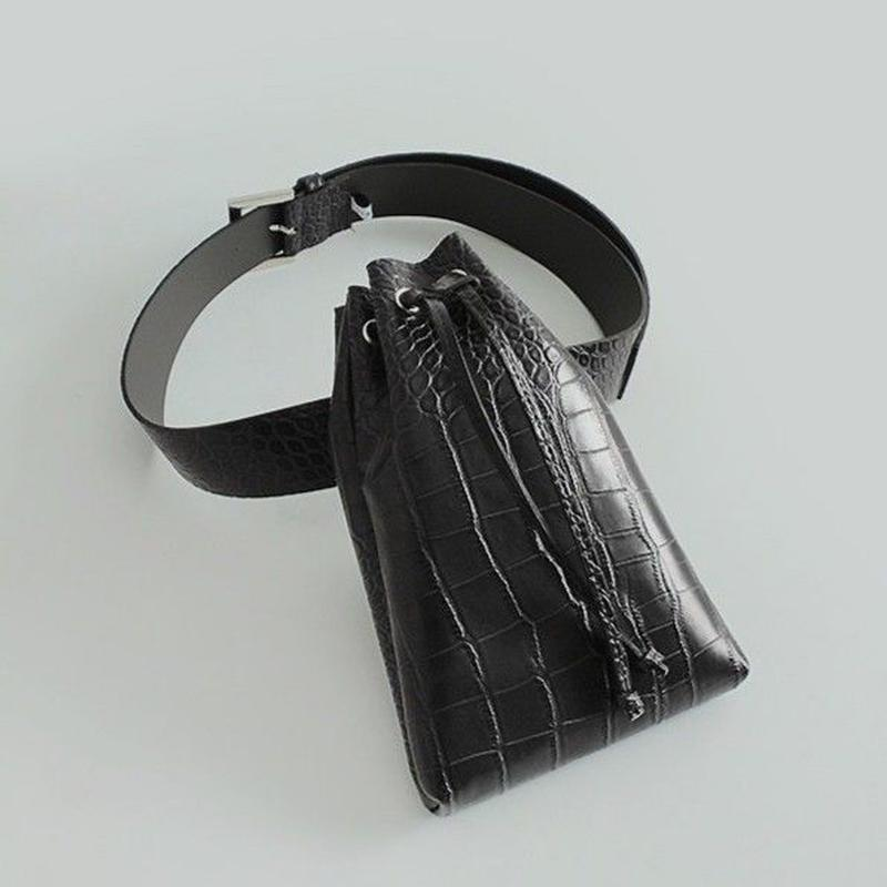 crocodile buckle waist bag