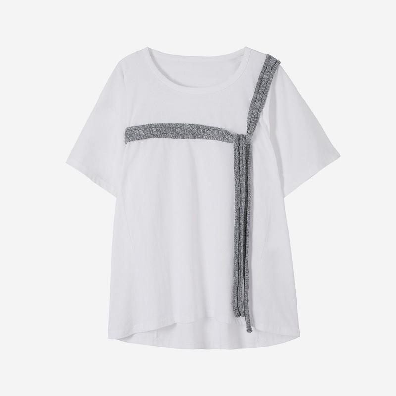 knit decor loose T-shirt