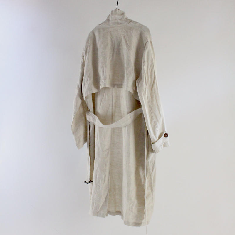 natural linen robe coat
