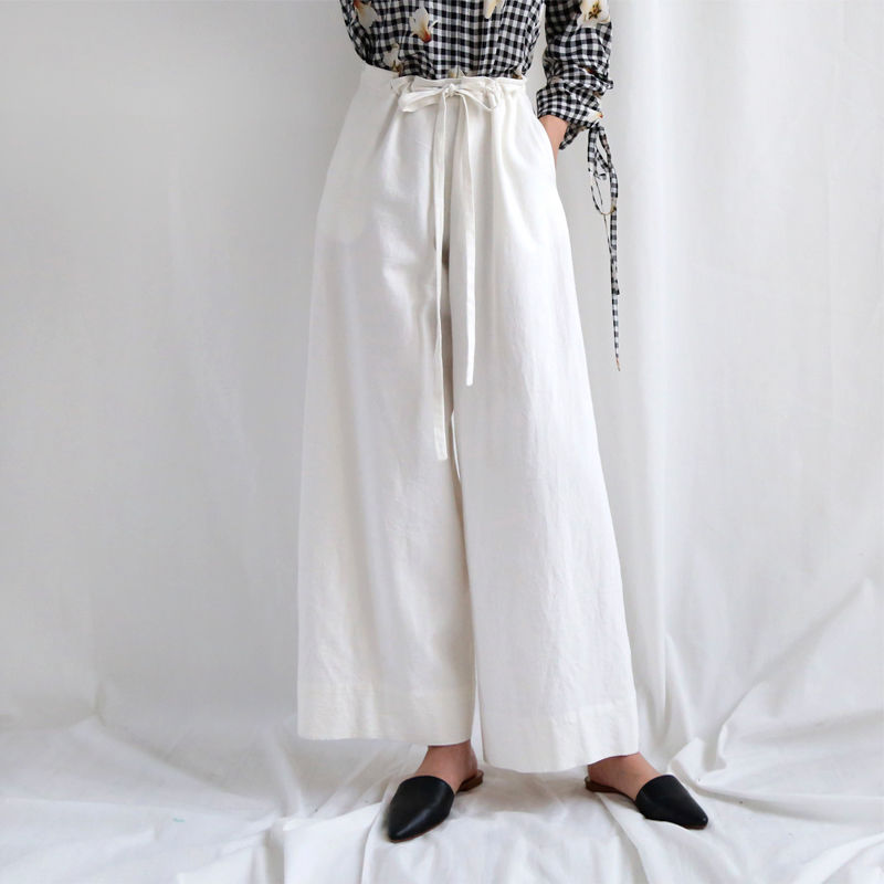 linen wide loose pants