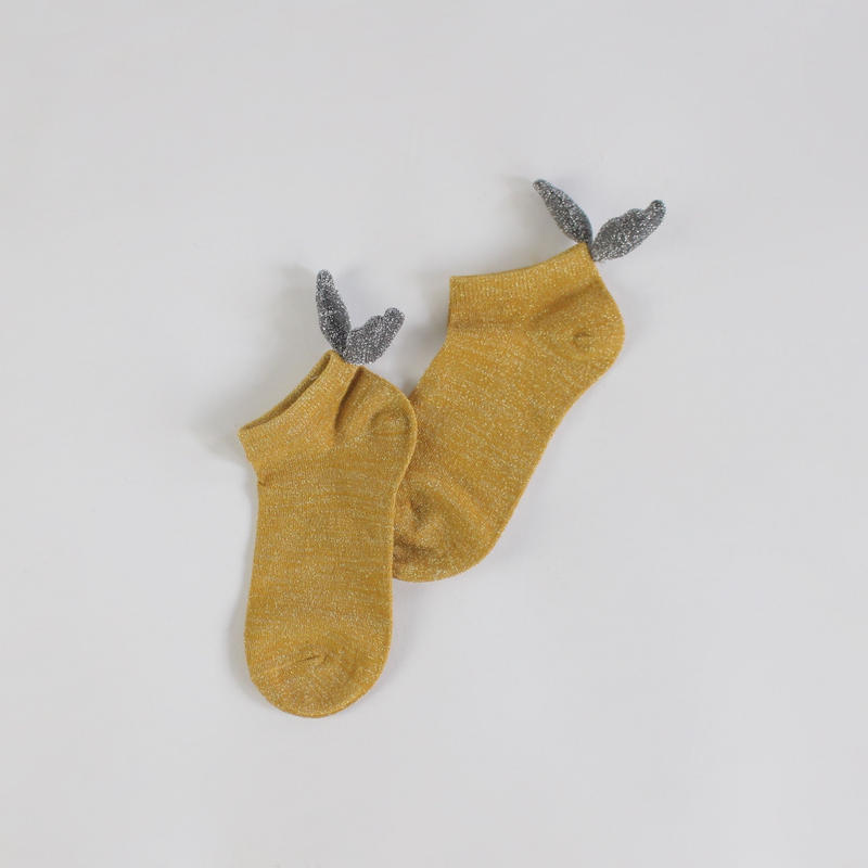 3colors-rear ears  pure socks