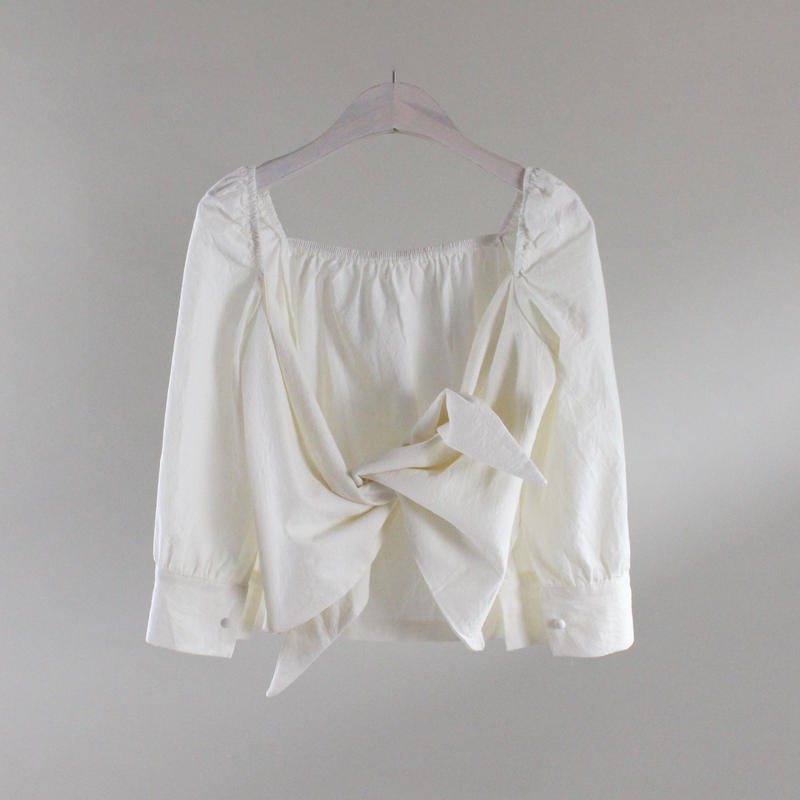 back binding chic blouse