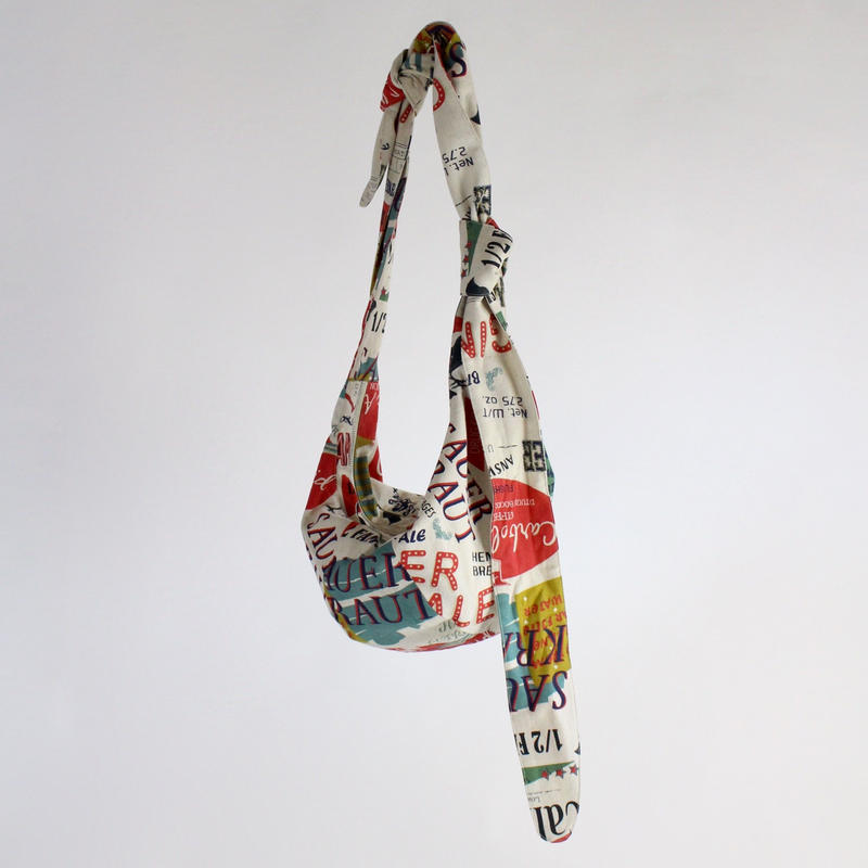graffiti print west bag