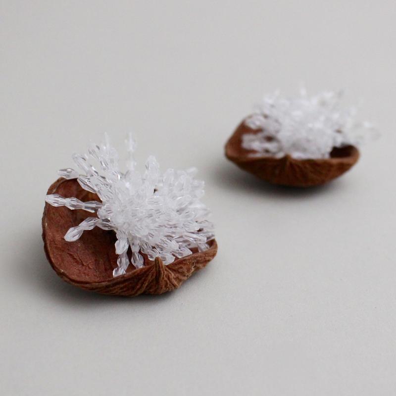 blossom bead earrings