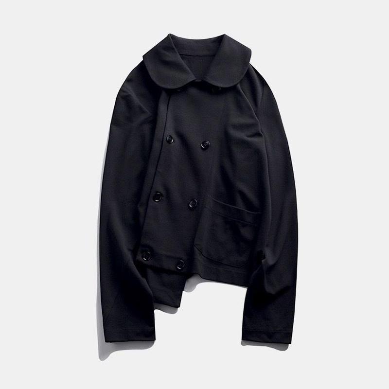 oblique double button jacket