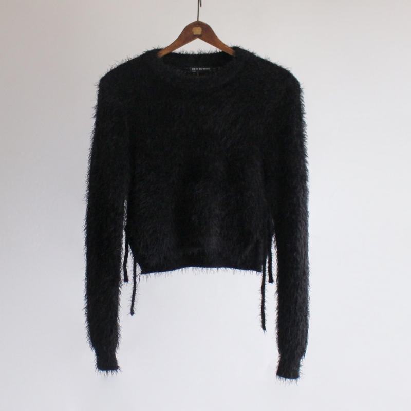 2colors-mohair short side strap sweater