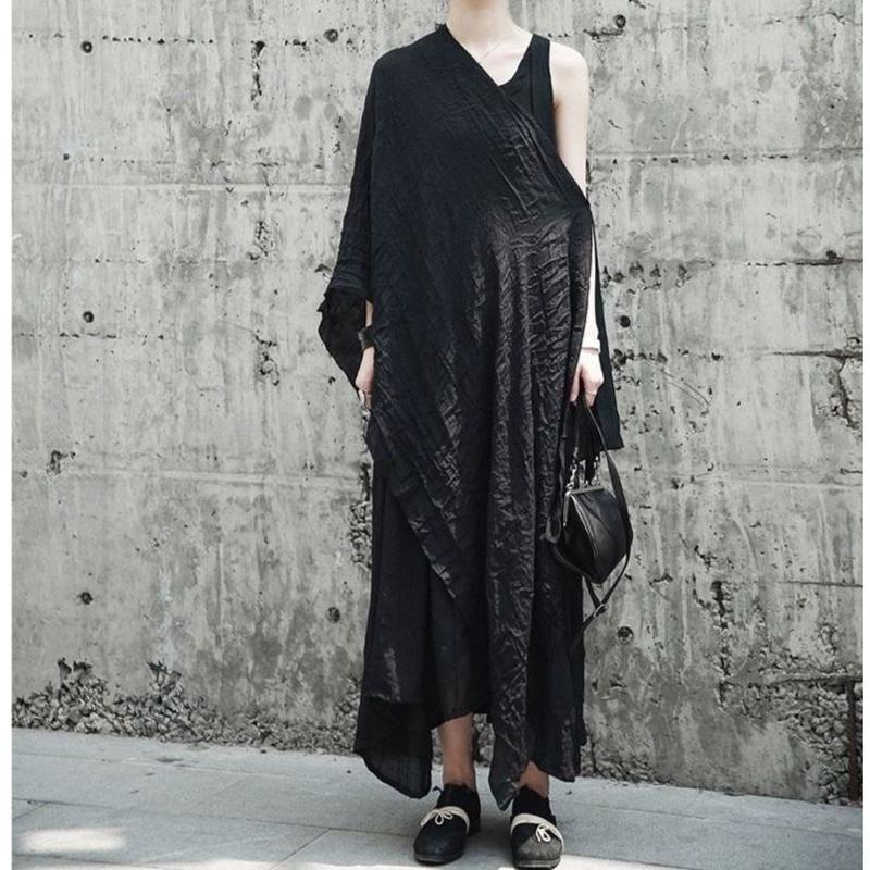 long strap dress with shawl