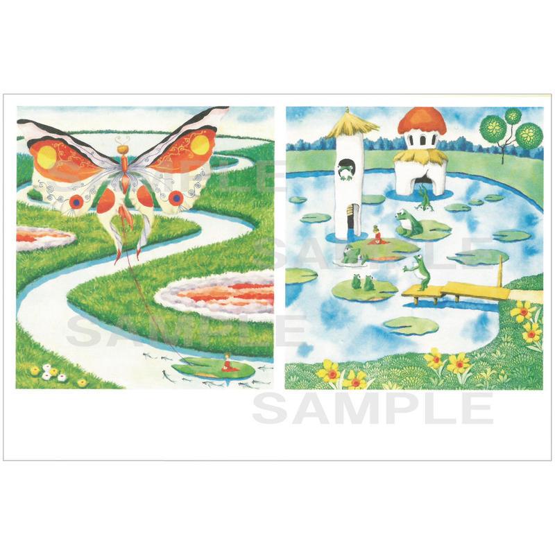 ポストカード 『おやゆびひめ』カエル(pl_26004)