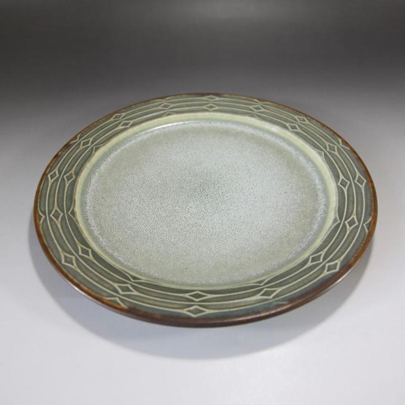 【ヴィンテージ】  デンマーク B&G(ビング・オー・グレンダール)社「Rune」(ルーン)平皿 I—148-08292017