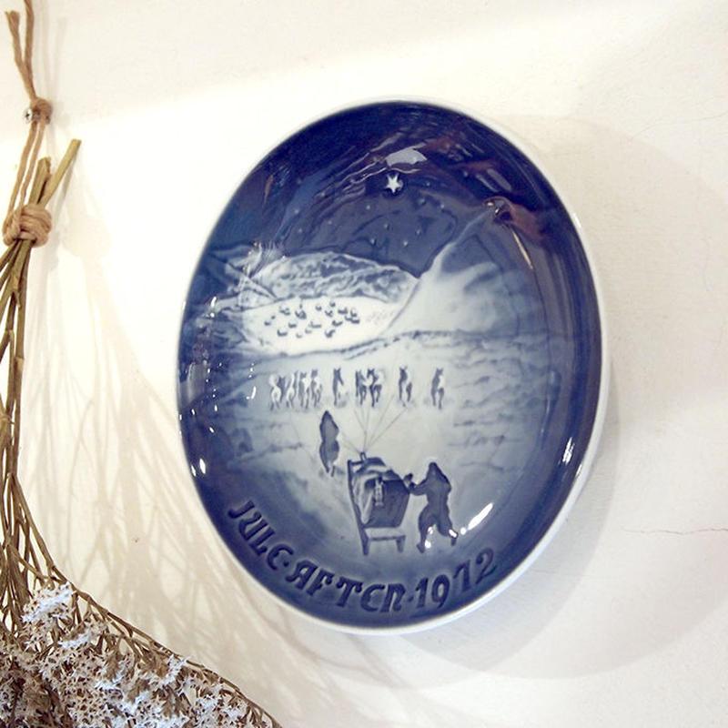 【ヴィンテージ】B&G ビングオーグレンダール クリスマスプレート 1972  I-951-171214