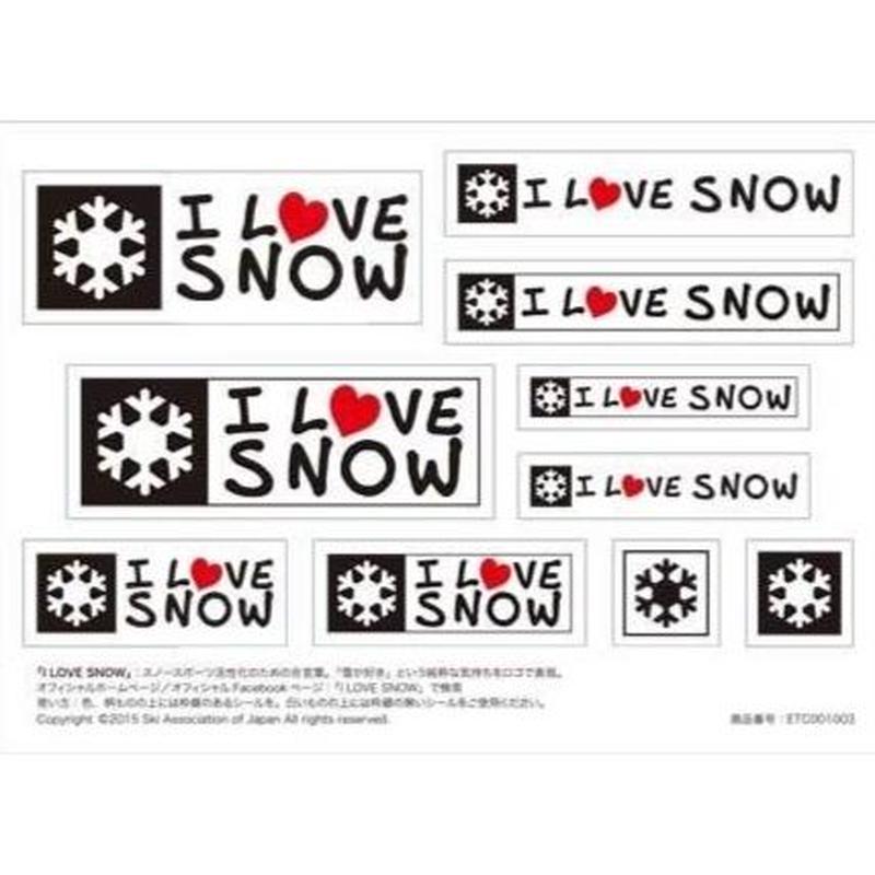 I LOVE SNOW オフィシャルステッカー ( A6サイズ)