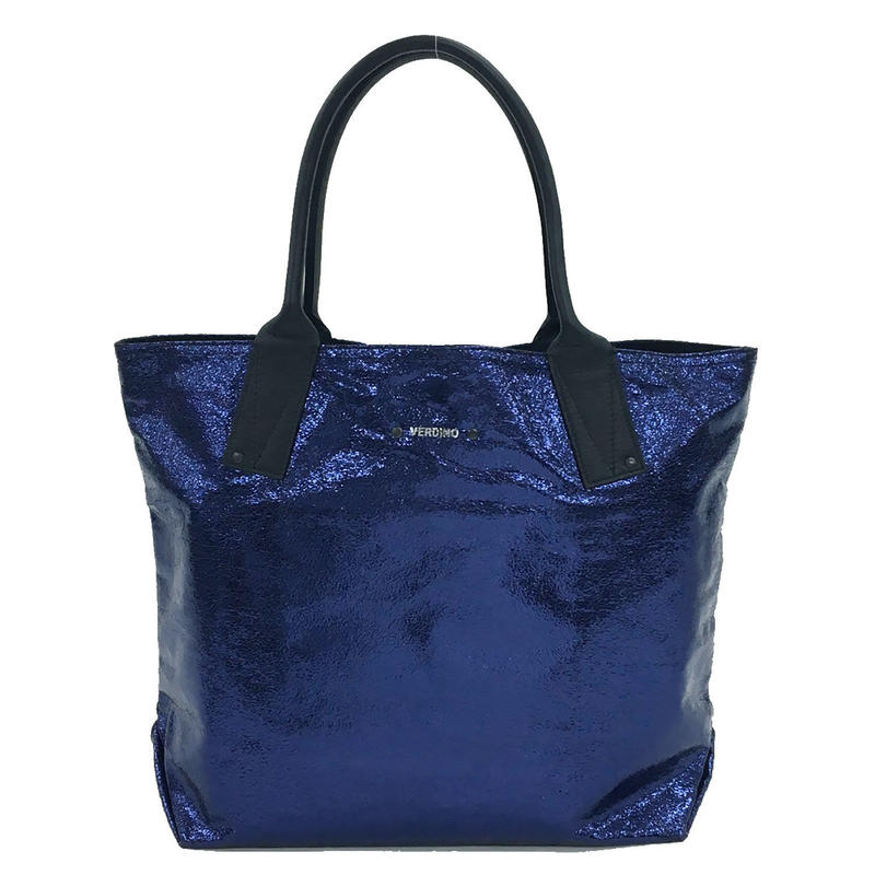 【VERDINO PARIS】ヴェルディーノ Light Cabas-M  Blu Marino トートバッグ M  ブルー