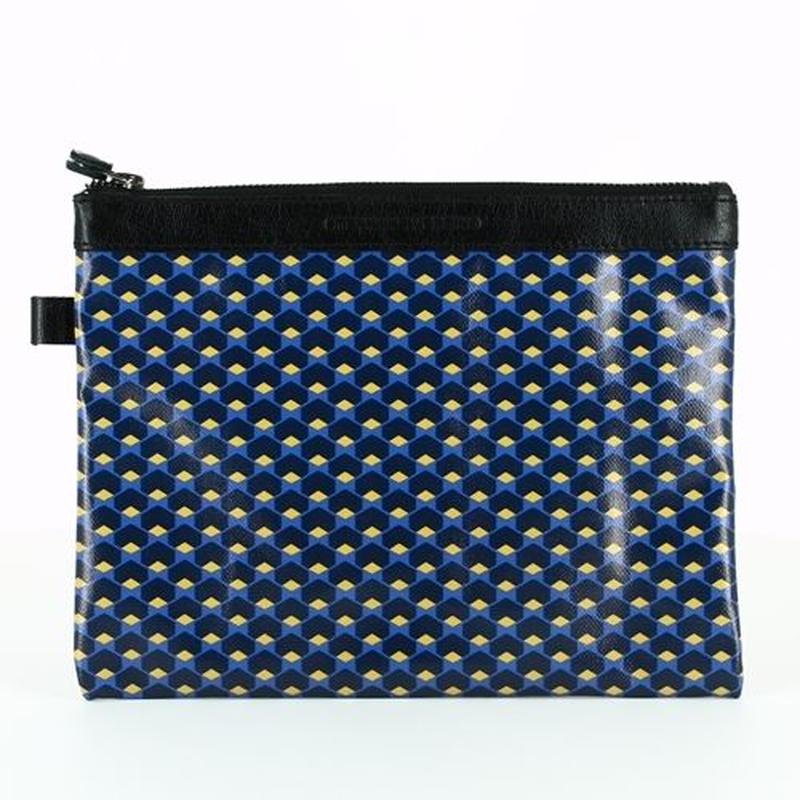 【STEPHANE VERDINO】HEXAGONE   POCHETTE-L    NAVY