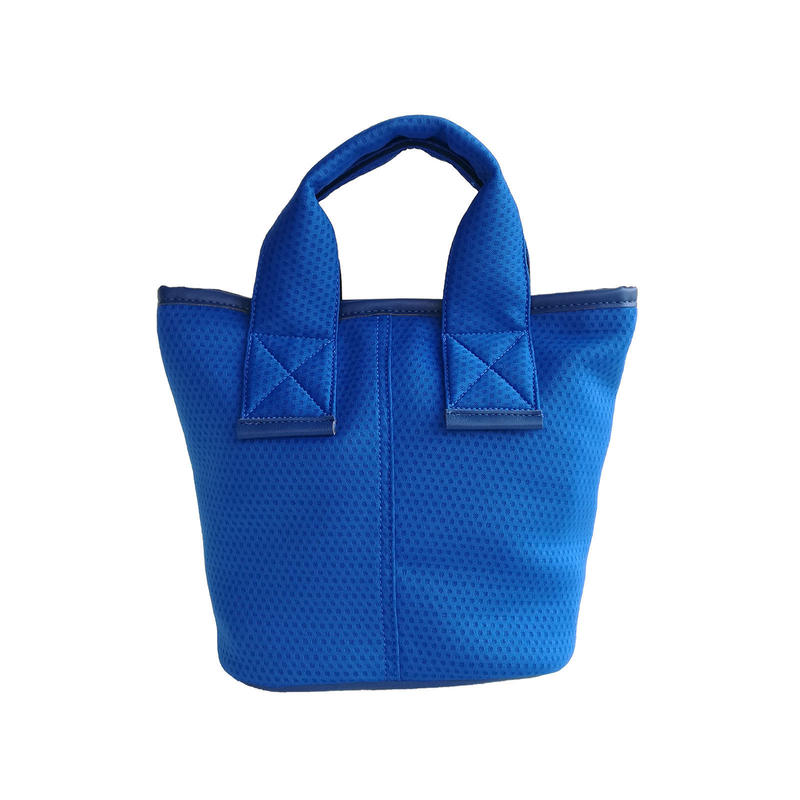 【Ämont Petit アモンプティ】83114 BL ミニトート メッシュ素材 ブルー 軽量ハンドバッグ