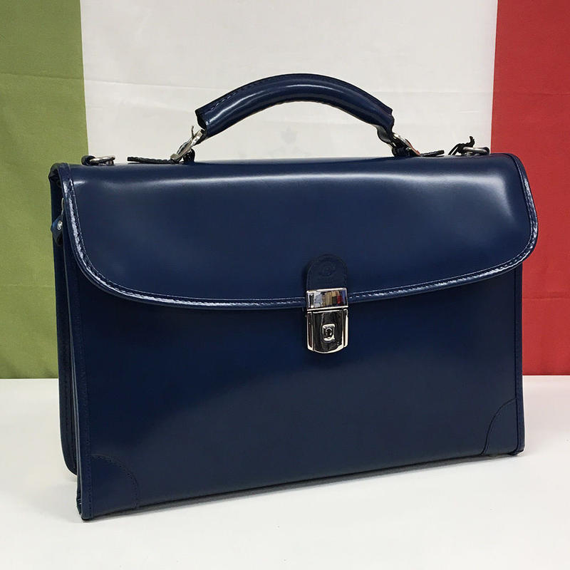 【Peroni】ペローニ R.113 / CIRO MODIFIED BRIEFCASE NAVY BLUE ブリーフケース