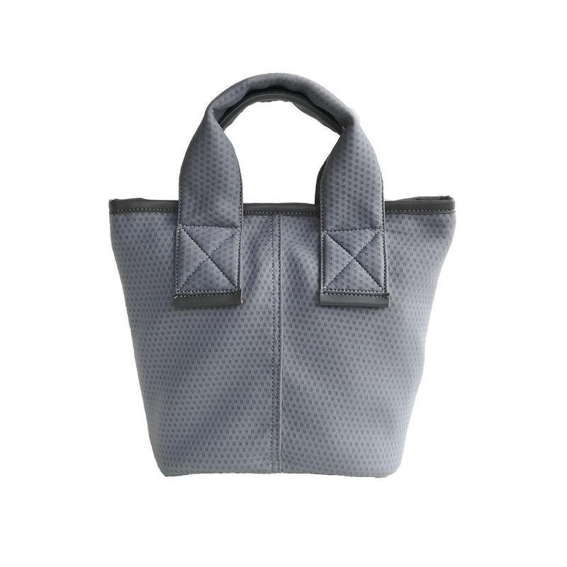 【Ämont Petit アモンプティ】83114 GR ミニトート メッシュ素材 グレー 軽量ハンドバッグ