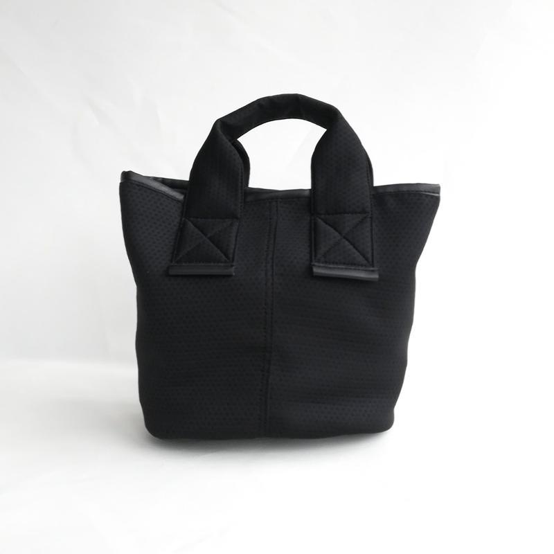 【Ämont Petit アモンプティ】83114 BK ミニトート メッシュ素材 ブラック 軽量ハンドバッグ