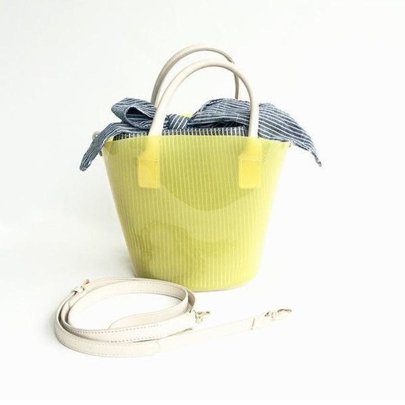【Ämont Petit アモンプティ】83135  YE クリアバッグ ミニサイズ イエロー クリア素材 インバッグ付きトートバッグ
