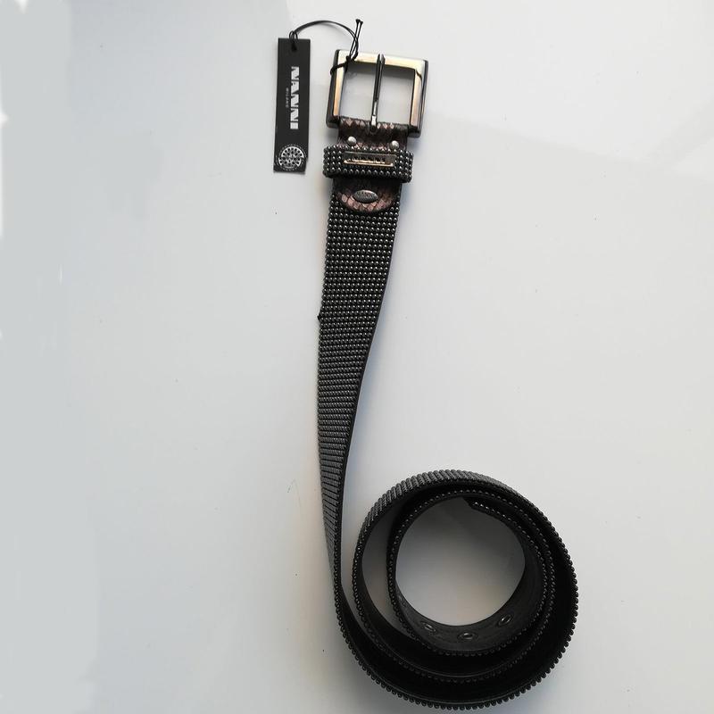 【NANNI】ナンニ 579 メタルボールベルト SHINY BLACK 105cm