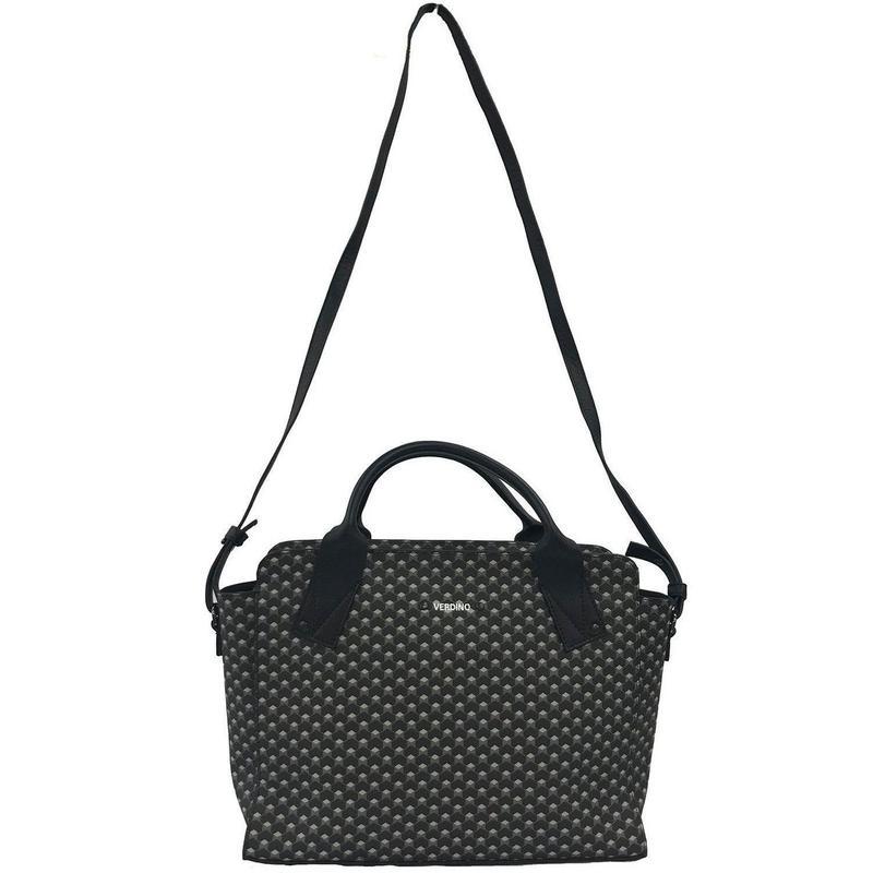 【VERDINO  PARIS】ヴェルディーノ Hexagone Lady bag   Black/Black ヘキサゴン/幾何学模様   スクエアバッグ   ブラック/ブラック