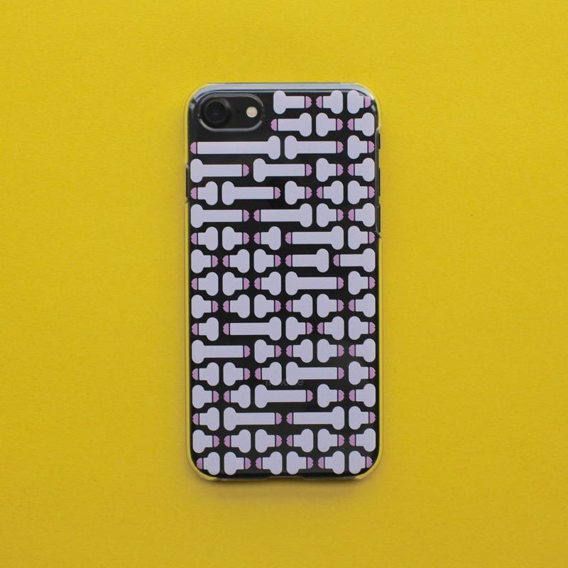 Dick pattern iPhone case